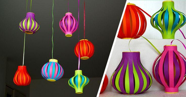 DIY lampions - Mettez de la couleur dans votre déco