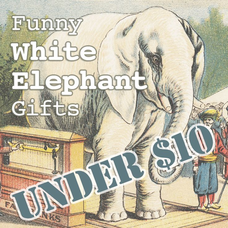 Funny White Elephant Gifts Under $10 #gag_gifts