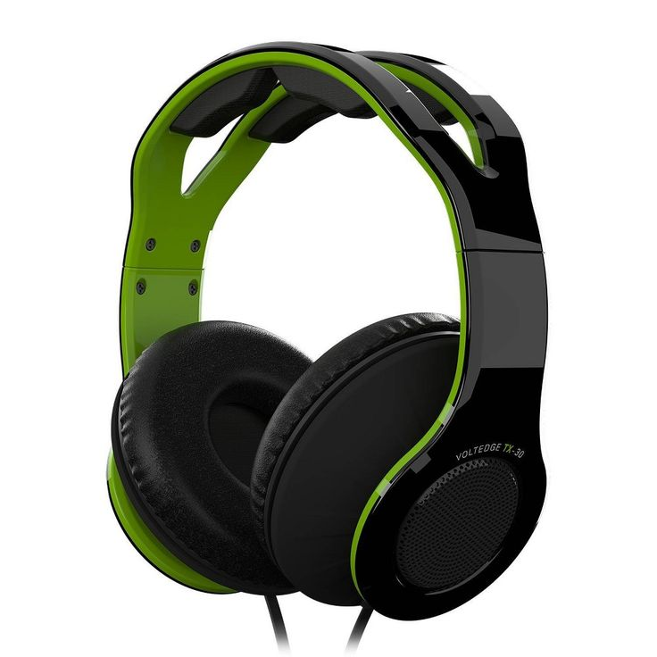 VoltEdge TX30 Wired Game & Go Headset for Xbox One, Green