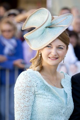 Cute blue hat! Hereditary Grand Duchess Stephanie, September 21, 2013 | The Royal Hats Blog