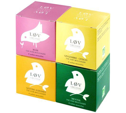 løv tea minimal packaging system