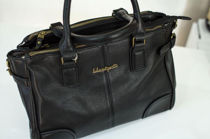 Sac Lulu Castagnette : cuir noir
