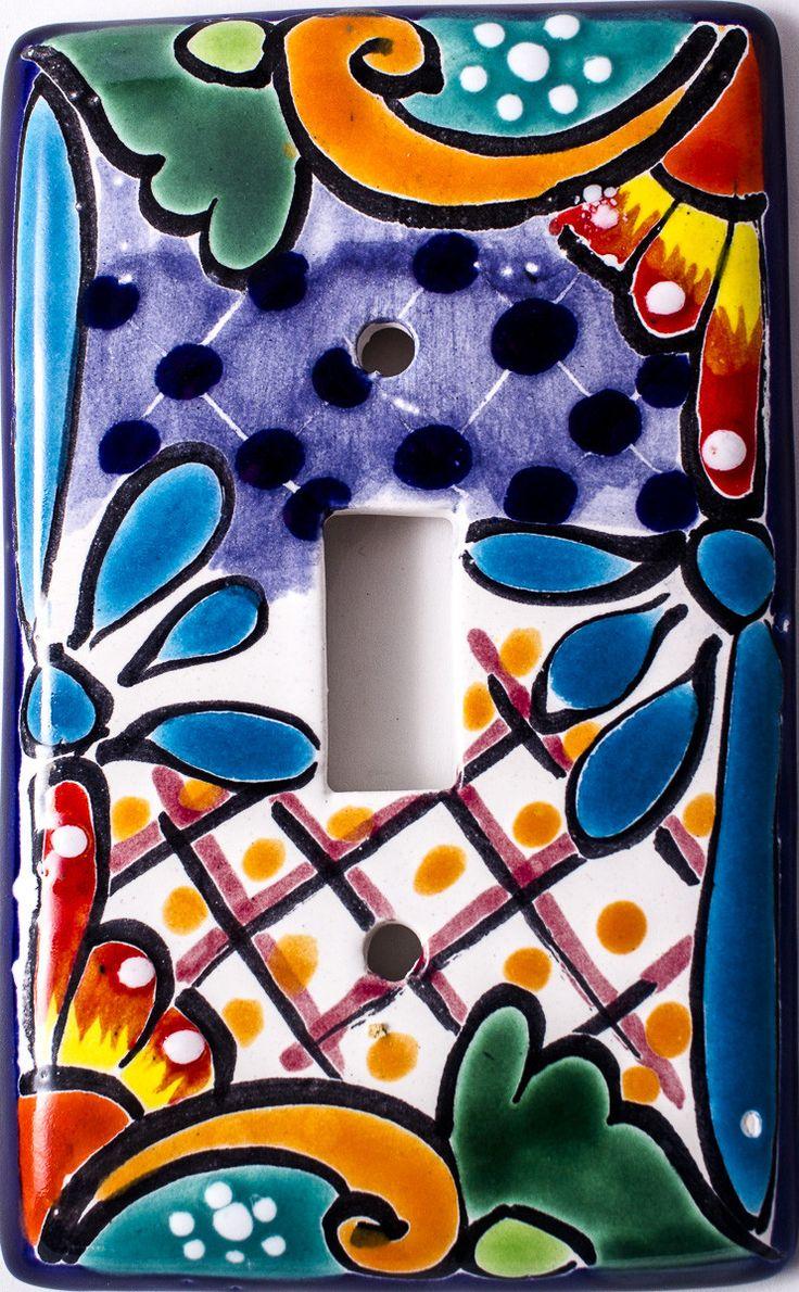 Talavera ceramic birdbaths eclectic bird baths phoenix by - Mexican Talavera Pottery Single Toggle Switch Plate Ttsp009