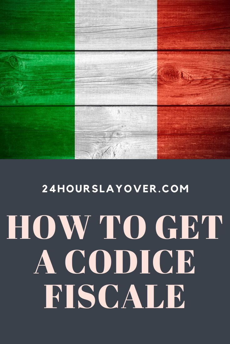 How to get a codice fiscale italian tax code national