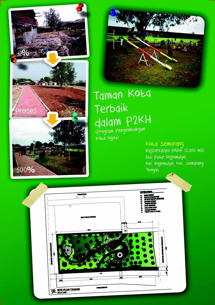 Taman Kota Terbaik dalam P2KH (Program Pengembangan Kota Hijau)