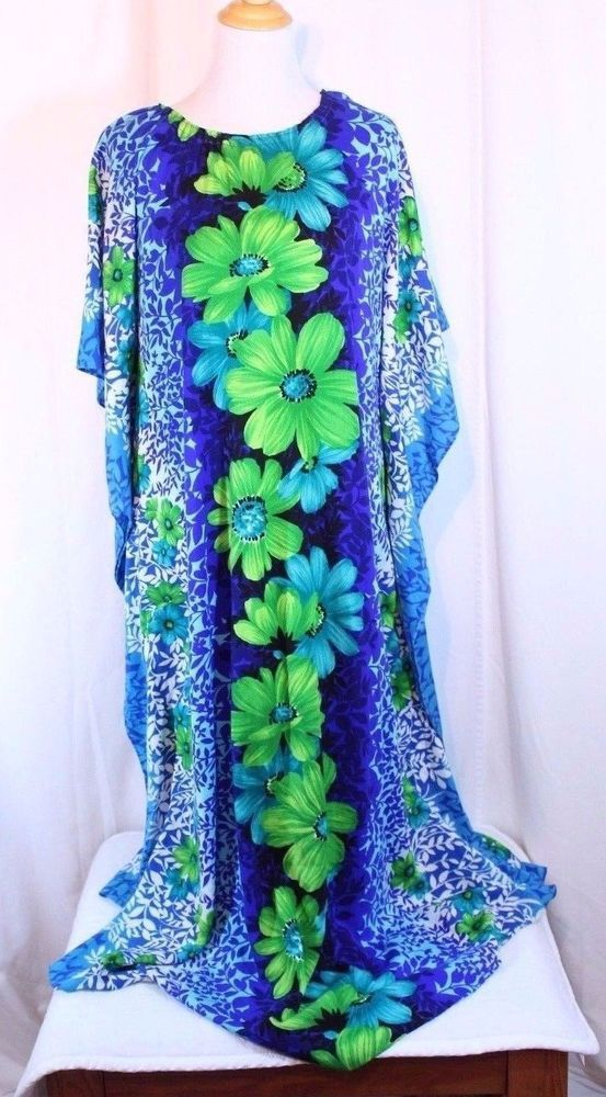 CAFTAN Muumuu Hawaiian Floral PRINT Plus Size One Size Fits Most Handmade #Handmade #CAFTANMUMU