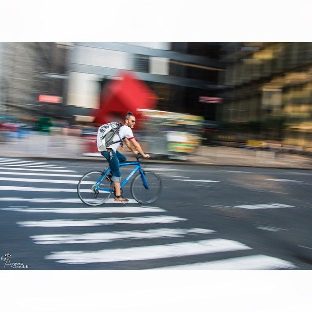 Life in n #NewYork... A Blur! #areesz #streetphotography #nyc #life #cycle #squaready