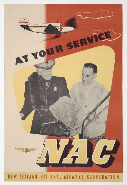 New Zealand National Airways Corporation - NAC - At your service - 1940's -
