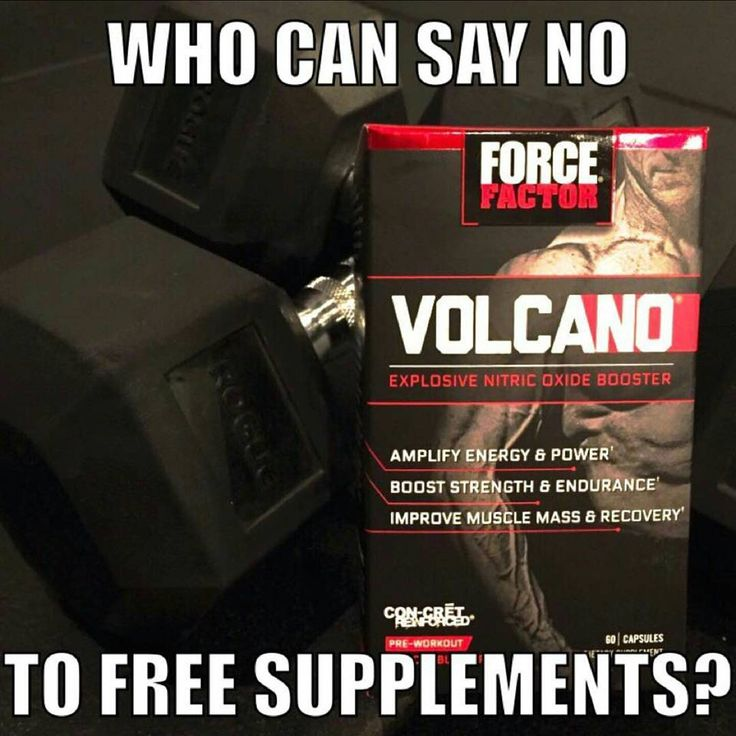 Get a two-week sample of the poweful pre-workout @forcefactorvolcano  -  Build Muscle  Amplify Energy  Boost Strength -  Just click the link in @forcefactorvolcano bio and use promo code MEME