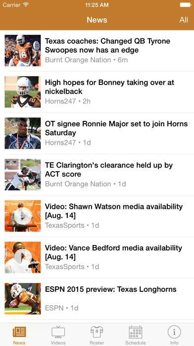 [iOS] Texas FanGuide - Football News, Roster, Schedule for the Texas Longhorns ($1.99 to Free) http://amp.gs/pKKY