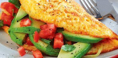 Receta de omelette de aguacate