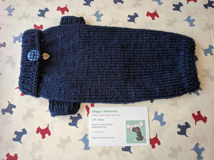 Excited to share the latest addition to my #etsy shop: Small dog jumper in soft sparkly blue wool http://etsy.me/2CwTPdT #pets #clothing #blue #dogjumper #dogsweater #dogcoat #dogwalks #dogjacket #woollydogcoat