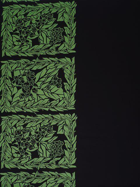 Ti Lei & Crown Flower Black & Green Poly Cotton LW-19-688