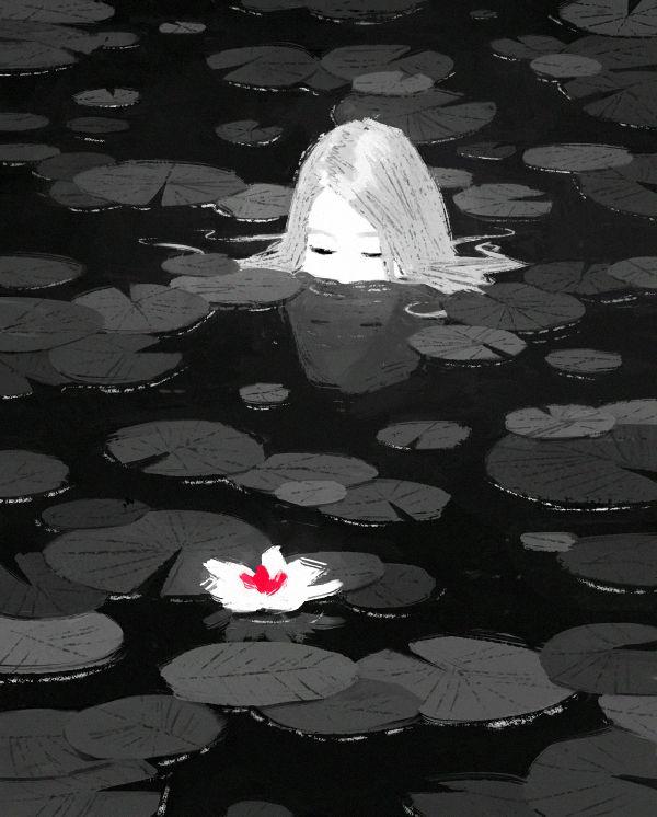 Socially Conscious Illustrations by Fredrik Rattzen: lotus_web