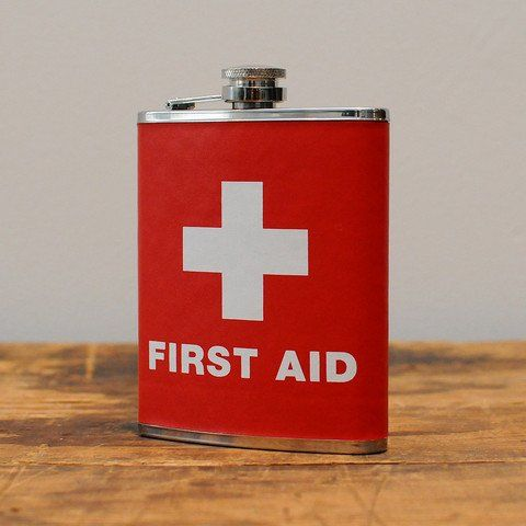 Fancy - First Aid Flask $20.00  Got it!!!: Aid Flask, Gift, Stuff, First Aid, Flasks, Funny, Random, Products