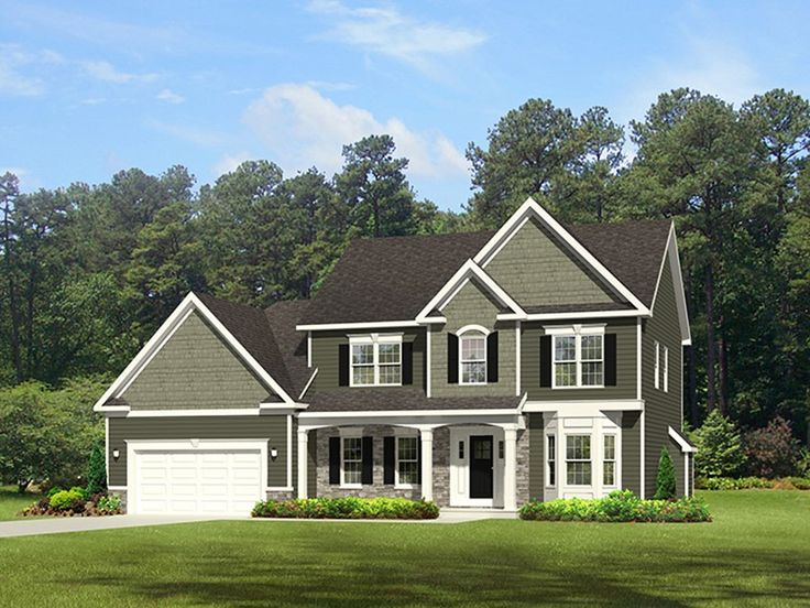 Traditional house plan with 2300 square feet and 4 for 2300 square foot house plans