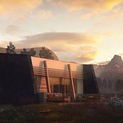 Zx180 - nowoczesny parterowy dom w minimalistycznym stylu...