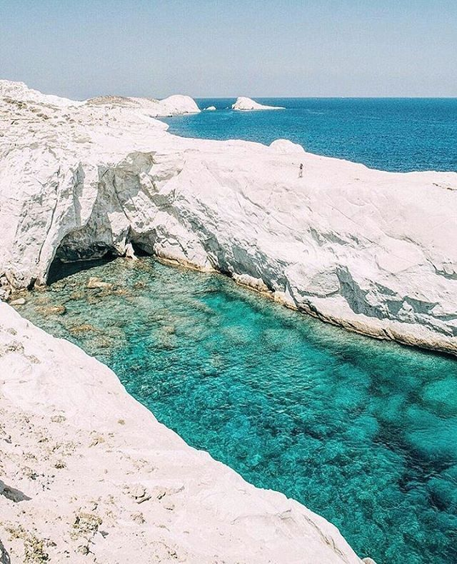 "Perfect Greece™  (@perfect_greece) στο Instagram: ""Amazing shot of the perfect #milos island, on #cyclades!  By @nellyvels. Congratulations """
