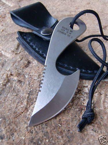 NEU - HERBERTZ Neck Knife - Fingermesser - Halsmesser - NACKENMESSER
