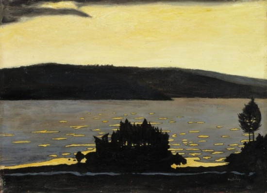 Hugo Simberg, Spring Evening in Moods of Nature − Van Gogh to Kandinsky − National Galleries of Scotland