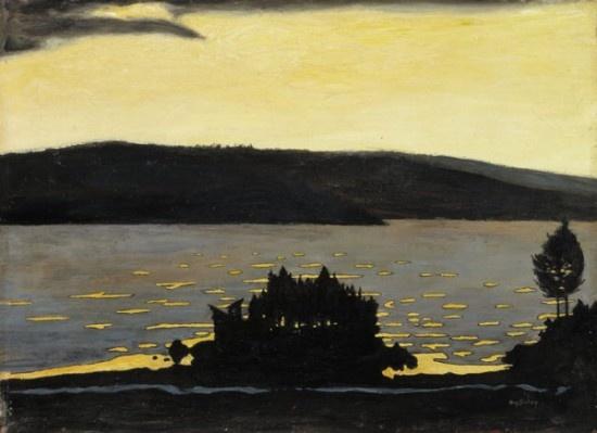 Hugo Simberg, Spring Evening in Moods of Nature − Van Gogh to Kandinsky − National Galleries of Scotland