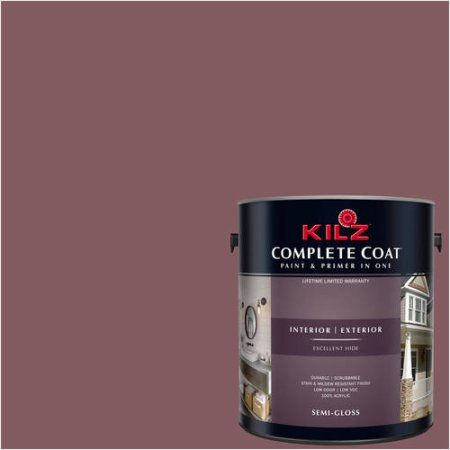 Kilz Complete Coat Interior/Exterior Paint & Primer in One #LA150-02 Australian Shiraz