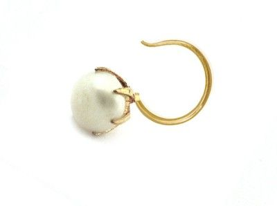 Pearl Paradise Pearl Yellow Gold Plated Silver Nose Stud Price in India - Buy Pearl Paradise Pearl Yellow Gold Plated Silver Nose Stud Online at Best Prices in India   Flipkart.com