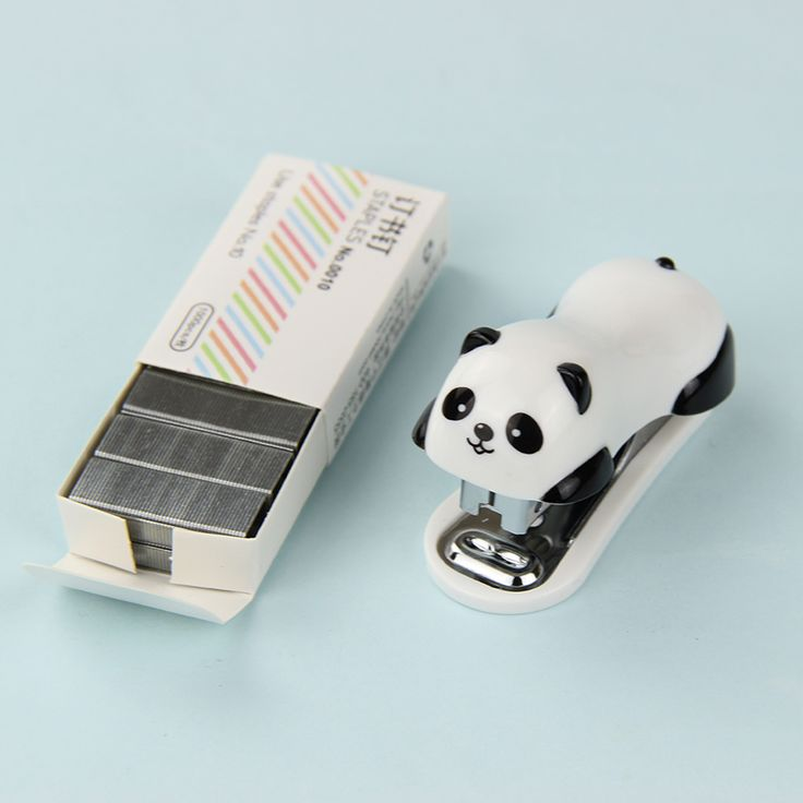 1 Set Kawaii Mini Stationery Stapler Set Office Accessories Book Paper Binding Student Learning Supplies