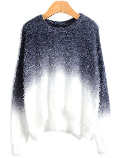 Ombre Mohair Sweater