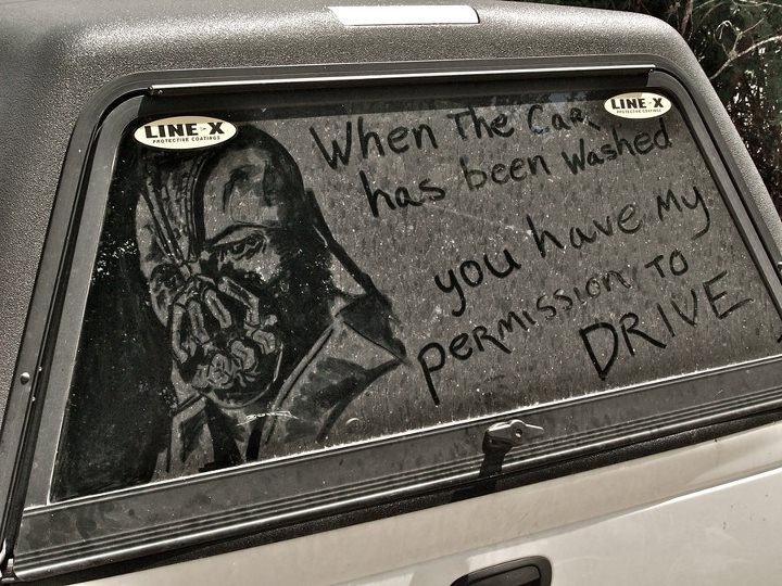 Bane says it's time to wash your car.: Like A Boss, Most Popular Pin, Funny Photo, Dirty Cars, Cars Wash, Dark Knights, Drawing, Window Art, Toms Hardy