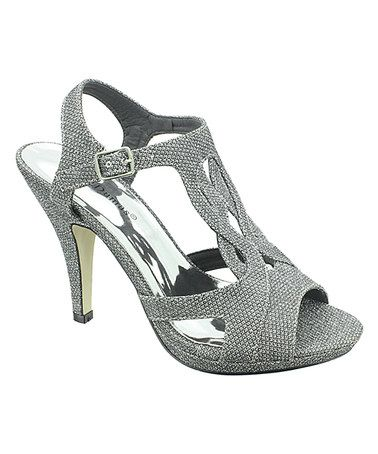 Loving this Pewter Glitter Sanibel Sandal on #zulily! #zulilyfinds