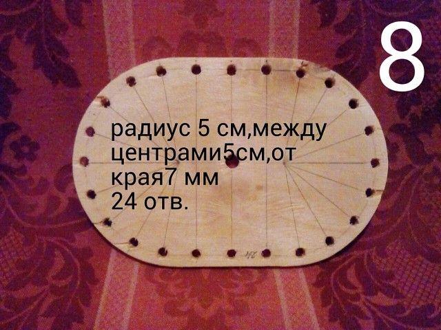 12 ступеней изготовления простого шаблона для плетения корзин,ваз,кашпо,абажуров…
