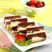 PUDING COKELAT LAPIS KEJU http://www.sajiansedap.com/mobile/detail/14184/puding-cokelat-lapis-keju