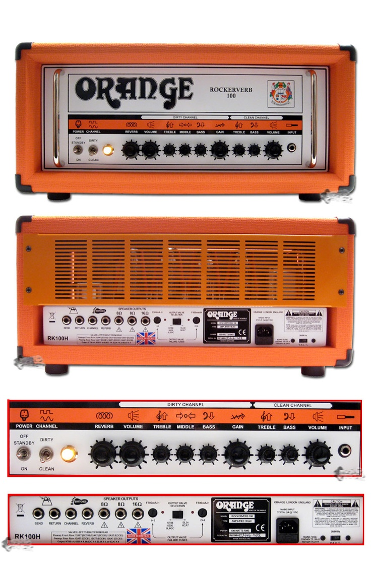 Orange Amplifiers Rockerverb 100 RK100HTC 100W Tube Guitar Amp Head $2349.99