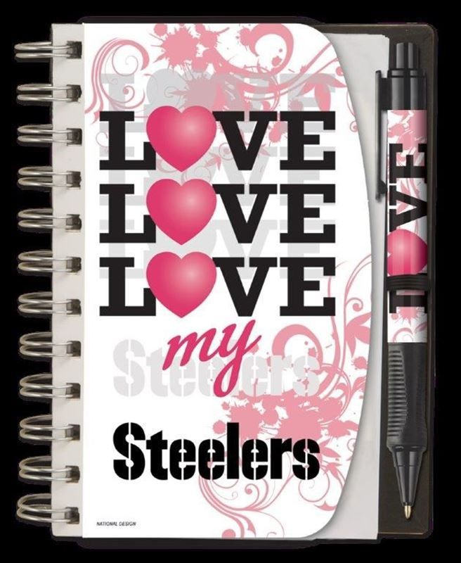 Shop the Official Steelers Pro Shop for Pittsburgh Steelers 4x6 Love My Steelers Notebook