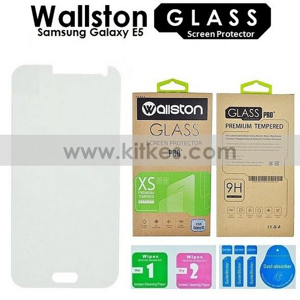 Wallston Tempered Glass Screen Protector Samsung Galaxy E5 - Rp 65.000 - kitkes.com