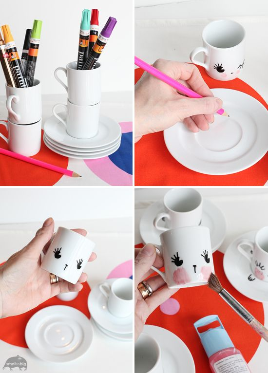 DIY tea party set for kids – Espresso Cups DIY – Kids Crafts and Kids Gifts | Small for Big