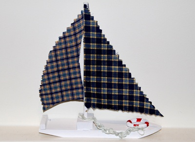 Summer Craft - Wooden Sailboat with Fabric Sail