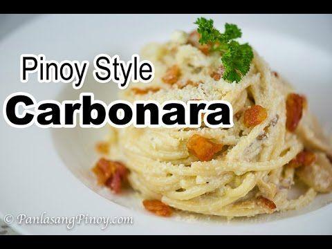 Pinoy Style Carbonara Recipe - Panlasang Pinoy