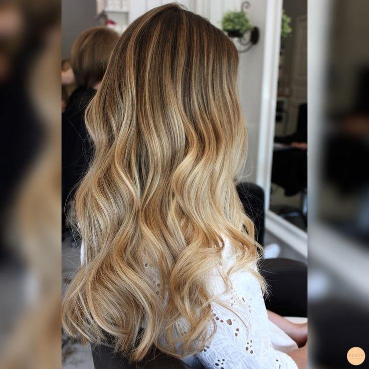natural blonde balayage sombre