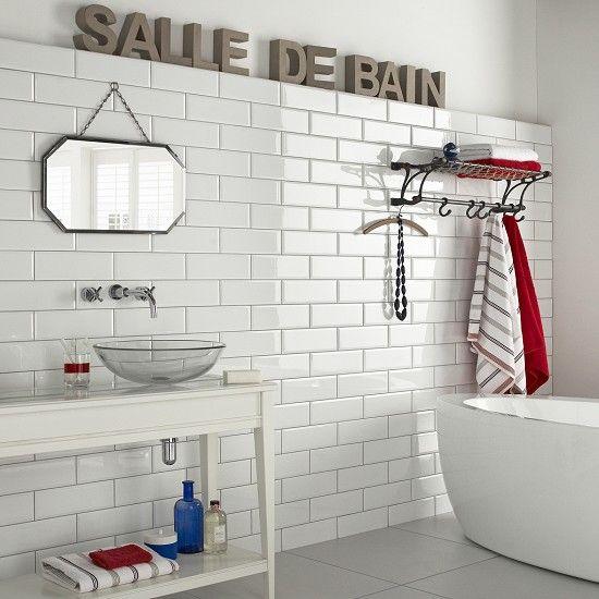 Diamante White - bathroom tiles