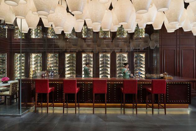 El lobby del Mandarin Oriental Shanghai