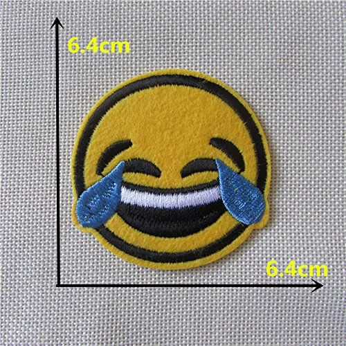 FairyTeller Child Like Smiling Face Patch Hot Melt Adhesive Applique Embroidery Patch Diy Decoration Accessory 1Pcs Sell -- Details can be found by clicking on the image.