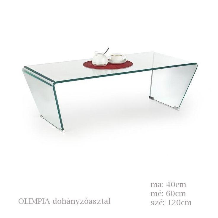 Olimpia dohányzóasztal átlátszó