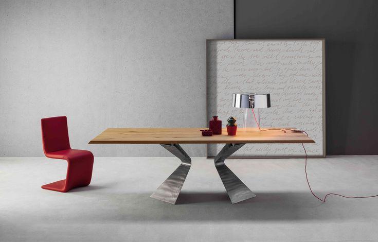 Prora #table #design Mauro Lipparini & Venere #chair design Bartoli Design by #Bonaldo
