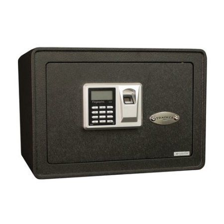 Tracker Safe S10-B2 0.817 cu. ft.All Steel Security Safe with Biometric Lock, Textured Black