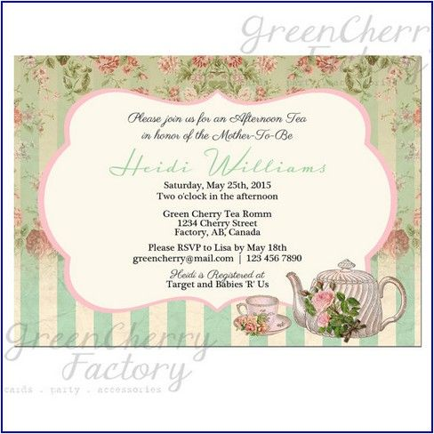Best Tea Party Images On   Tea Party Invitations