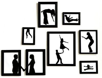 It's a simple idea, but so clever... wonderful, starkly framed silhouettes created by Brooklyn photographer and street artist