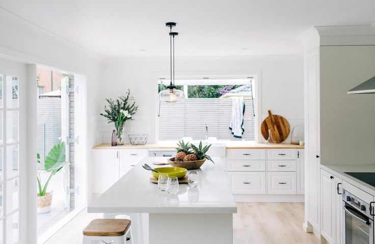 cheap pendant lights   faux caesar worktop   bunnings/ikea? kitchen   no wall cabinets to save money   budget laminate floor