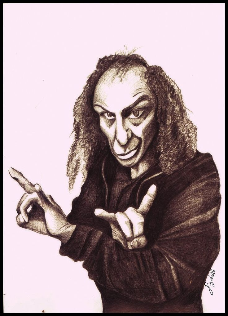 DIO My pencil drawing, scanned, 2012.  #ronniejamesdio #dio #rock #music